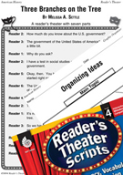 Government-Three Branches on the Tree Reader's Theater Script and Lesson
