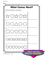 Grade 1 Sequencing Critical Thinking Activities