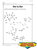 Grade 2 Dot-to-Dot Puzzles