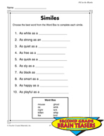 Grade 2 Fill-in-the-Blanks Critical Thinking Activities