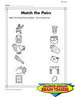 Grade 2 Matching Critical Thinking Activities