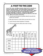Grade 3 Logical Thinking Critical Thinking Activities