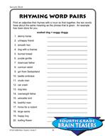 Grade 4 Specialty Words Puzzles