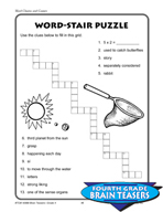 Grade 4 Word Chains and Games Critical Thinking Activities