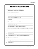 Grade 6 Famous People Critical Thinking Activities