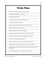 Grade 6 Trivia Critical Thinking Activities