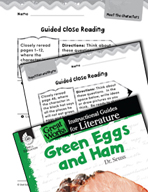 Green Eggs and Ham Close Reading and Text-Dependent Questions (Great Works Series)