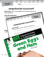 Green Eggs and Ham Comprehension Assessment (Great Works Series)