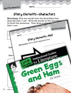 Green Eggs and Ham Studying the Story Elements (Great Work