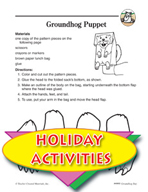 Groundhog Day Puppet Art Activity