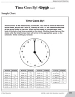 Guided Math Stretch: Elapsed Time - Time Goes By!