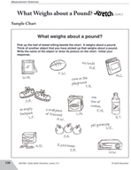 Guided Math Stretch: Estimating Weight - What Weighs about a Pound?