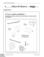 Guided Math Stretch: General Mathematics - A___Makes Me Think of…