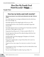Guided Math Stretch: How Has My Family Used Math Recently?