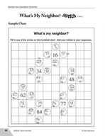 Guided Math Stretch: Hundreds Chart - What's My Neighbor?
