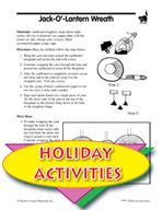 Halloween Activities - Jack-O'-Lantern Wreath and Other Art Activities