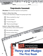 Henry and Mudge: The First Book Comprehension Assessment (Great Works Series)