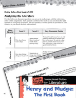 Henry and Mudge: The First Book Leveled Comprehension Questions (Great Works Series)
