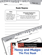 Henry and Mudge: The First Book Reader Response Writing Prompts (Great Works Series)