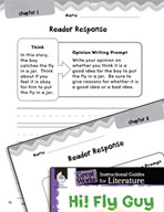Hi! Fly Guy Reader Response Writing Prompts (Great Works Series)