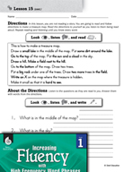 High Frequency Word Phrases Level 1 - Directions