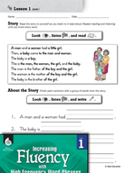High Frequency Word Phrases Level 1 - Naming Words