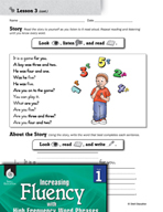 High Frequency Word Phrases Level 1 - Prepositions