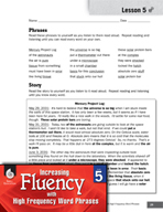 High Frequency Word Phrases Level 5 - Author's Purpose