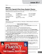 High Frequency Word Phrases Level 5 - Creating Reader's Theater