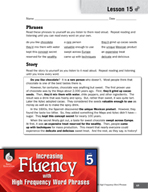 High Frequency Word Phrases Level 5 - Reading for Accurate