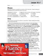 High Frequency Word Phrases Level 5 - References Are a Reader's Tool
