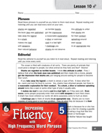High Frequency Word Phrases Level 5 - Supporting a Position