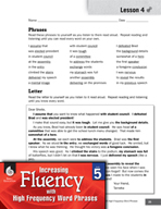 High Frequency Word Phrases Level 5 - Using Stress to Express