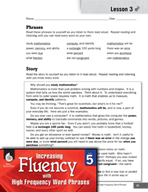 High Frequency Word Phrases Level 5 - Watching for Commas