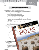Holes Comprehension Assessment (Great Works Series)