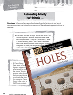 Holes Post-Reading Activities (Great Works Series)