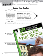 How to Eat Fried Worms Close Reading and Text-Dependent Questions (Great Works Series)