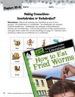 How to Eat Fried Worms Making Cross-Curricular Connections (Great Works Series)
