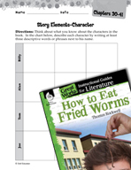 How to Eat Fried Worms Studying the Story Elements (Great Works Series)