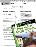 How to Eat Fried Worms Vocabulary Activities (Great Works Series)