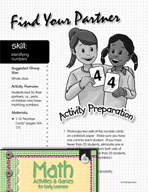 Identifying Numbers - Find Your Partner Activity