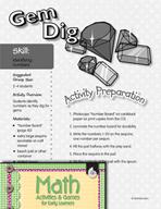 Identifying Numbers - Gem Dig Game
