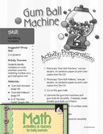 Identifying Numbers - Gum Ball Machine Game