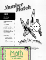 Identifying Numbers - Number Match Activity