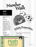 Identifying Numbers - Number Walk Game