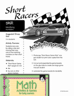 Identifying Numbers - Short Racers Game