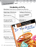 If You Give . . . Series Guide Vocabulary Activities (Grea