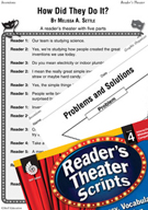 Inventions - How Did They Do It? Reader's Theater Script a