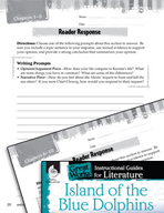 Island of the Blue Dolphins Reader Response Writing Prompts (Great Works Series)