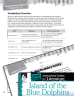 Island of the Blue Dolphins Vocabulary Activities (Great Works Series)